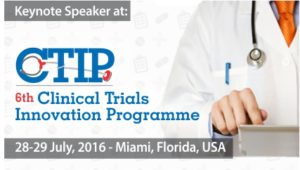 Angelo Passalacqua, CEO, will be a featured speaker at the 6th Annual Clinical Trials Innovation Programme